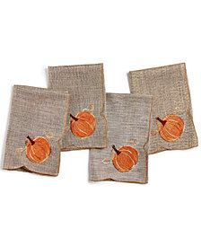 Homewear Pumpkin Gardenia 4-Pc. Napkin Set