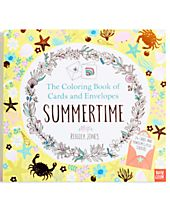 Penguin Summertime Coloring Book of Cards
