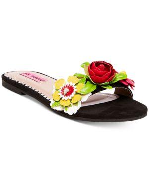 Betsey Johnson Adilyn Floral Slide Sandals Women
