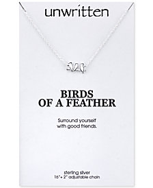 Unwritten Mini Bird Pendant Necklace in Sterling Silver