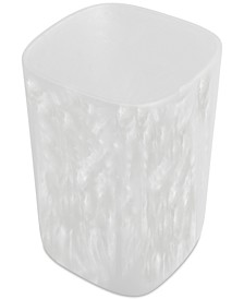 Murano White Wastebasket