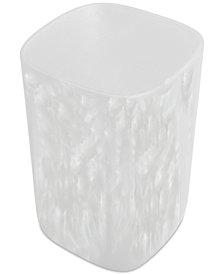 Paradigm Murano White Wastebasket