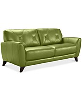 Green Leather Sofas & Couches - Macy\'s