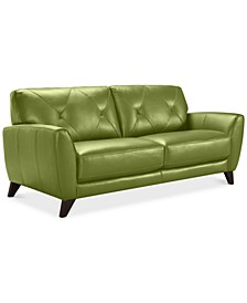 "Myia 82"" Leather Sofa, Created for Macy's"