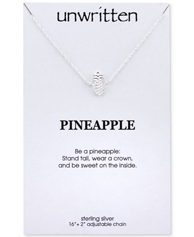 Unwritten Pineapple Pendant Necklace in Sterling Silver