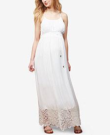 Motherhood Maternity Lace-Trim Maxi Dress