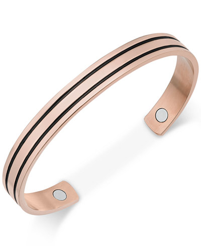 Sutton by Rhona Sutton Men's Copper & Black IP Plated Stainless Steel Cuff Bracelet