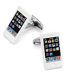 Sutton by Rhona Sutton Men's Silver-Tone iPhone Cufflinks