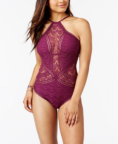Becca High-Neck Illusion Swimsuit