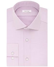 Men's Slim-Fit Non-Iron Performance Spread Collar Herringbone Dress Shirt