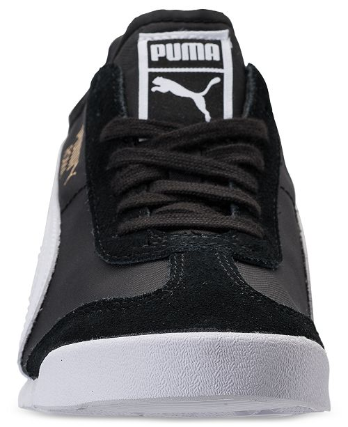 a032c76e3807 Puma Men s Roma OG Nylon Casual Sneakers from Finish Line   Reviews ...