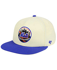 '47 Brand New York Mets Natural No Shot Snapback Cap
