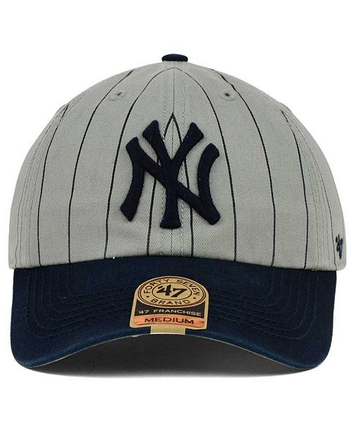 47 Brand New York Yankees Pinstripe FRANCHISE Cap - Sports Fan Shop By  Lids - Men - Macy s 2a65ca80a6