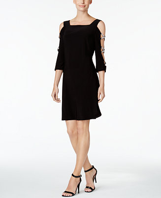 Msk Embellished Cold Shoulder Cocktail Dress Amp Reviews