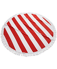 Round Stripe Fringe Cotton Beach Towel
