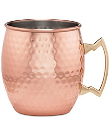 Hammered Copper Moscow Mule Mug with Classic Handle