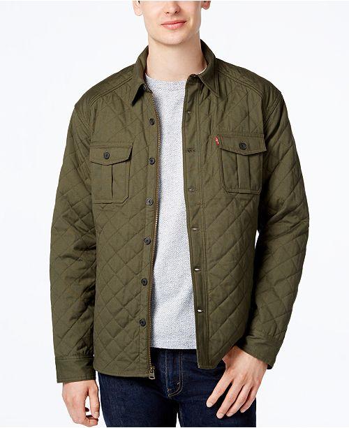 Levi S Men S Quilted Shirt Jacket Amp Reviews Coats