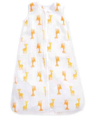 Giraffe-Print Cotton Sleeping Bag, Baby Boys & Girls
