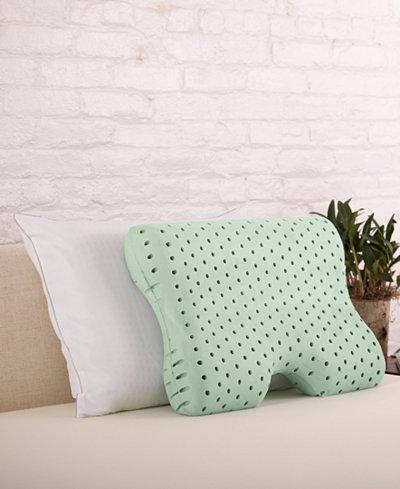 CLOSEOUT! Authentic Comfort® Green Tea Memory Foam Contour Pillow