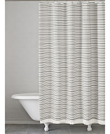 Kassatex Halsey Cotton Stripe Shower CurtainShower Curtains   Macy s. Black And Cream Shower Curtain. Home Design Ideas