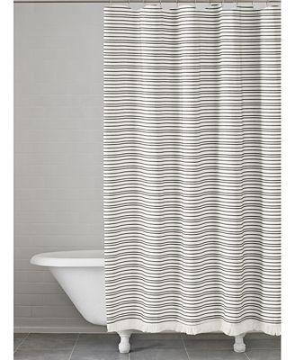 kassatex halsey cotton stripe shower curtain - shower curtains