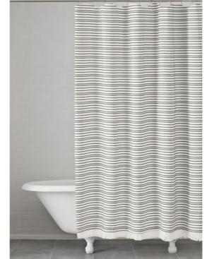 Kassatex Halsey Cotton Stripe Shower Curtain Bedding
