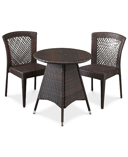 Noble House Chiese 3-Pc. Dining Set, Quick Ship