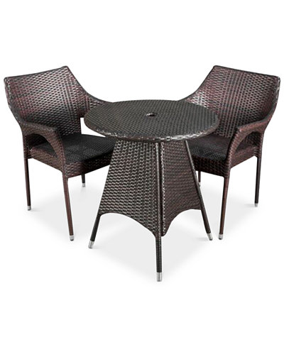 Chiese 3-Pc. Dining Armchair Set, Quick Ship
