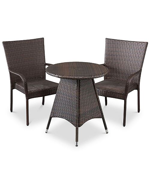 Noble House Chiese 3-Pc. Bistro Set, Quick Ship