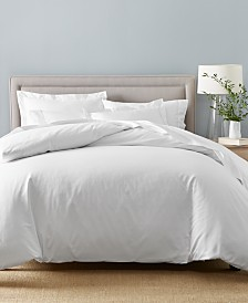 Charter Club Damask Solid Supima Cotton 550-Thread Count Bedding Collection, Created for Macy's