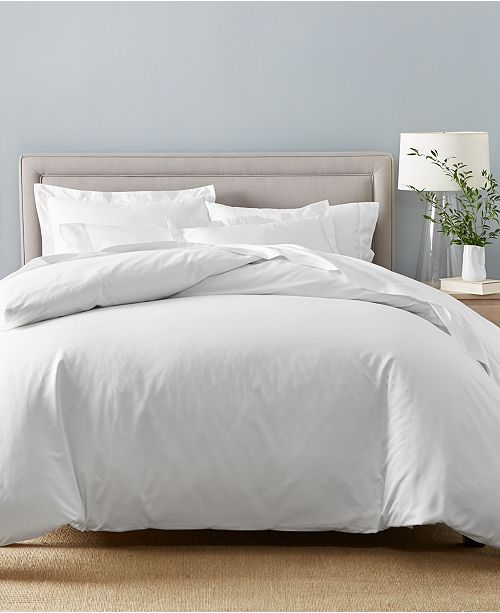 Charter Club Solid Supima Cotton 550-Thread Count Bedding Collection, Created for Macy's