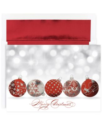 Sparkling Ornaments  Set of 16 Boxed Holiday Greeting Cards with Envelopes