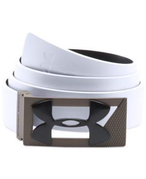 Under Armour Leather Golf Belt, White