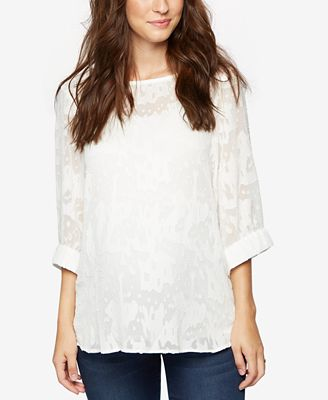 A Pea In The Pod Maternity Three-Quarter-Sleeve Blouse