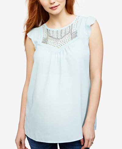 A Pea In The Pod Maternity Embellished Blouse