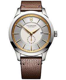 Victorinox Swiss Army Men's Alliance Brown Leather Strap Watch 44mm