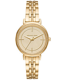 Michael Kors Women's Cinthia Gold-Tone Stainless Steel Bracelet Watch 33mm MK3681