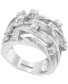 D'Oro by EFFY® Diamond Woven Ring (1 ct. t.w.) in 14k White Gold