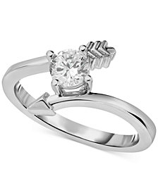 Diamonds Arrow Bypass Ring (1/2 ct. t.w.) in 14k White Gold