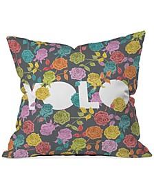"Bianca Green Yolo 16"" Square Decorative Pillow"