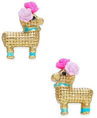 kate spade new york 14k Gold-Plated Piñata Stud Earrings