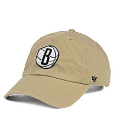 '47 Brand Brooklyn Nets Khaki CLEAN UP Cap