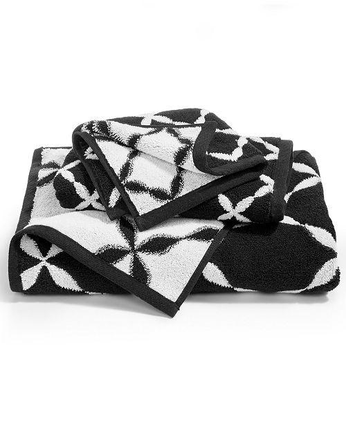 Charter Club CLOSEOUT! Elite Cotton Fashion Trellis Washcloth, Created for Macy's