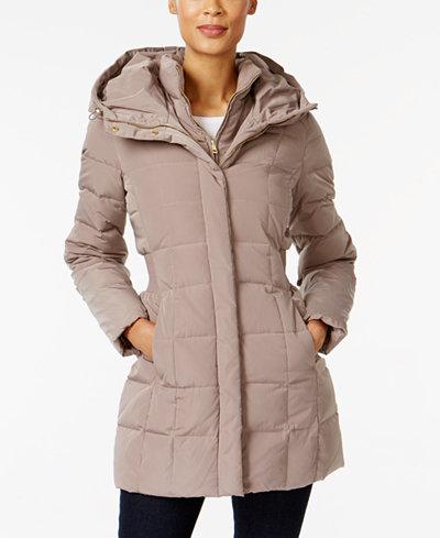 Cole Haan Signature Hooded Down Puffer Coat - Coats - Women - Macy's