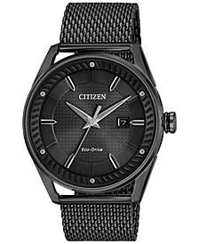 Men's Drive From Citizen Eco-Drive Black Mesh Stainless Steel Bracelet Watch 42mm