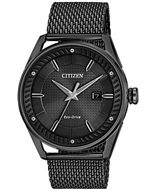 Citizen Men's Drive From Citizen Eco-Drive Black Mesh Stainless Steel Bracelet Watch 42mm