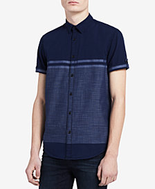Calvin Klein Jeans Men's Colorblocked Striped Shirt