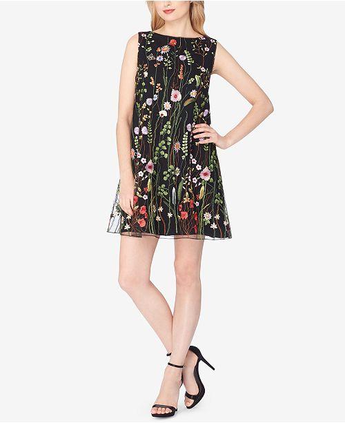 05e1f59d7a7b2 Tahari ASL Floral Embroidered Shift Dress & Reviews - Dresses ...