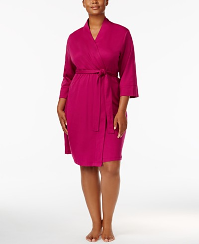 Jockey Plus Size Cotton Interlock Robe