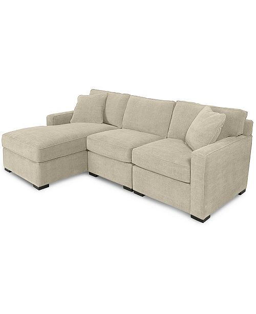 Sectional Sofas At Macys: Furniture Radley 3-Piece Fabric Chaise Sectional Sofa